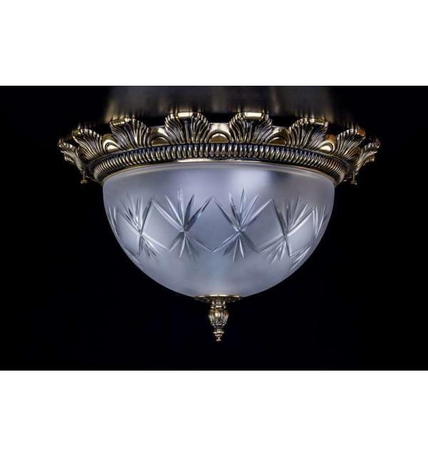 Светильник Artglass LEA II. Brass antique