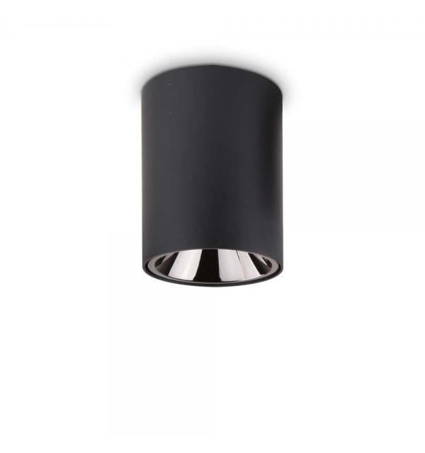 Светильник Ideallux NITRO 15W ROUND NERO 205984