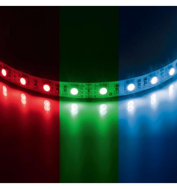 400050 Лента 5050LED 12V 14.4W/m 60LED/m 10-12lm/LED IP20 RGB 200m/box ЦВЕТНАЯ