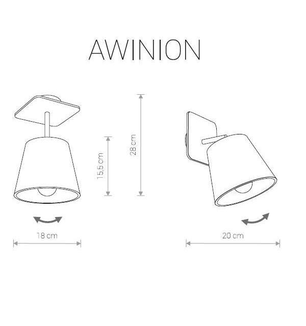 Настенно-потолочный светильник Nowodvorski AWINION 9282